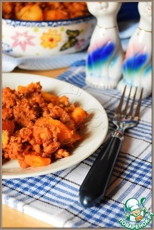 Рецепт Жареный картофель с фаршем