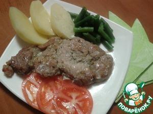 Рецепт Эскалоп из свинины в сметанном соусе