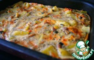 Картофельная запеканка с курицей домашний рецепт приготовления с фотографиями пошагово как приготовить