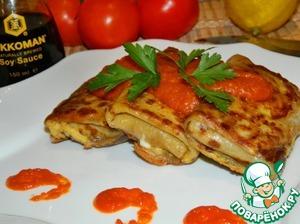 Рецепт Рыба в блинчиках под томатным соусом
