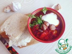 Рецепт Суп со свеклой и перловой крупой