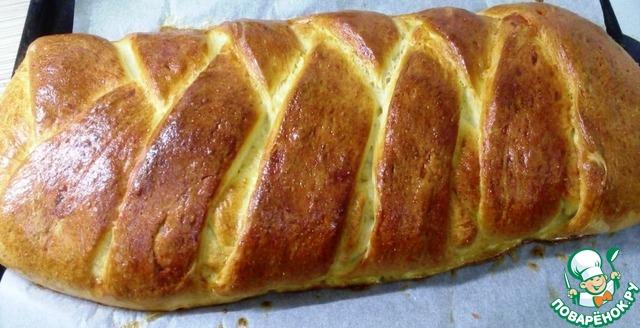 плетенка с колбасой и сыром пошагово