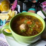 Суп а-ля солянка с чечевицей