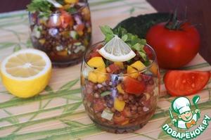 Рецепт Салат из чечевицы и овощей