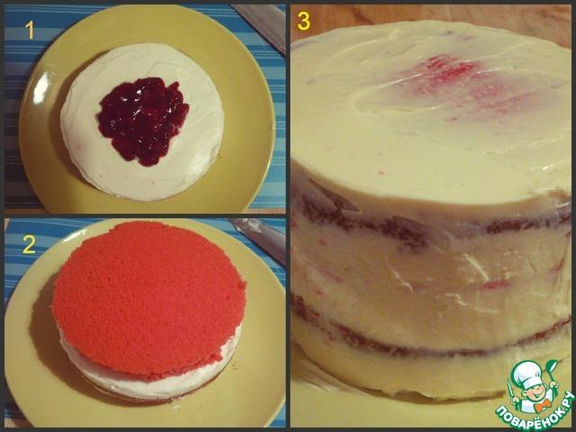 Торт как сделать красный крем для торта 773