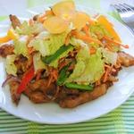 Курица под салатом