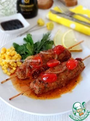 Рецепт Кебаб на сковороде с ароматной подливой
