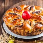 Маковый пирог на творожно-дрожжевом тесте