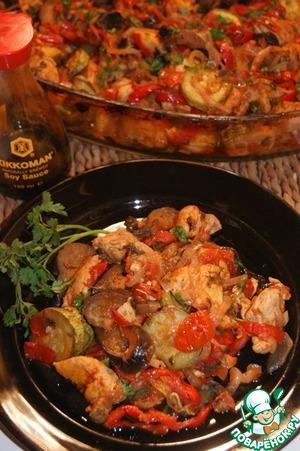 Рецепт Сочное куриное филе с овощами