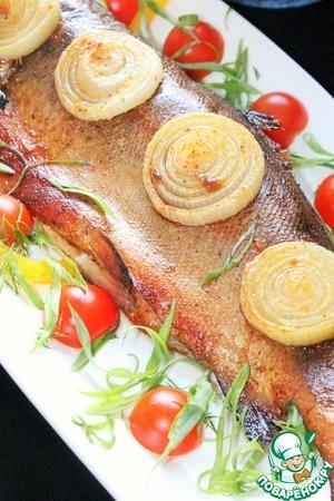 Рецепт Форель в пряном маринаде с луком