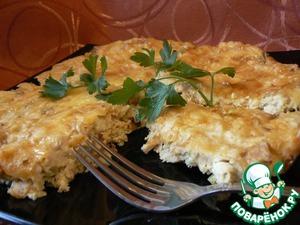 Пирог-запеканка с курицей домашний пошаговый рецепт с фото