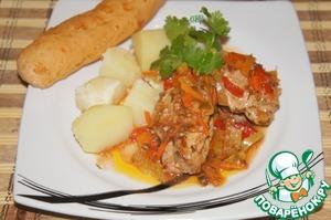 Рецепт Перец в томатном соусе с овощами