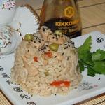 Рис с курицей в соевом соусе
