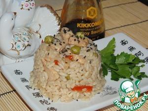 Рецепт Рис с курицей в соевом соусе
