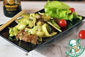 Рецепт Огурцы с говядиной по-китайски
