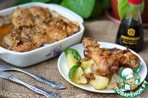 Рецепт Куриные ножки в соево-медовом соусе с орехами