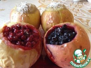 Рецепт Ассорти из печеных яблок с разной начинкой