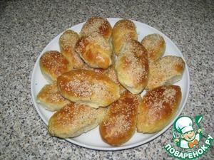 Рецепт Вкусные пирожки с печенью и кунжутом