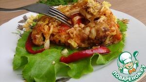 Рецепт Куриные бедра, фаршированные помидорами и сыром