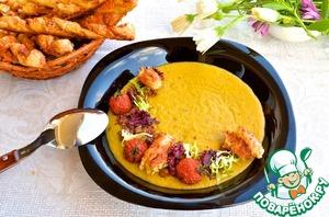 Рецепт Крем-суп из чечевицы с томлеными помидорами