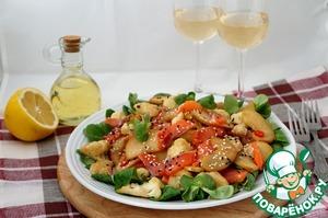 Рецепт Салат с сёмгой, яблоками и цветной капустой