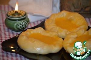 Рецепт Ватрушки с творожно-апельсиновой начинкой