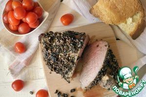 Рецепт Говядина, запеченная в кофейных зернах