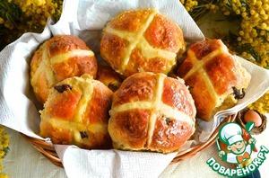 """Рецепт Английские пасхальные булочки """"Крестовые"""""""