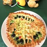 Пирог с маслинами и брокколи