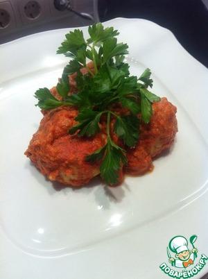 Рецепт Куриные тефтели с булгуром в томатном соусе