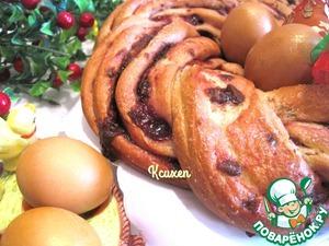 Рецепт Пасхальный клубничный венок с шоколадом