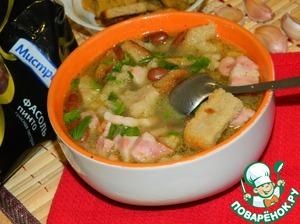 Рецепт Фасолевый суп с копченой грудкой