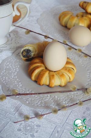 """Рецепт Пасхальные булочки-подставки для яиц """"Маковая роса"""""""