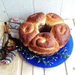 Праздничный Пасхальный пирог с шоколадным творогом