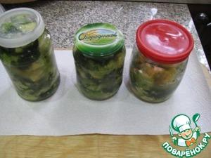 Рецепт Скорая закуска из маринованных кабачков