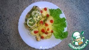 Куриные окорочка с картофелем в мультиварке рецепт с фотографиями как приготовить