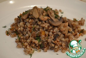 Рецепт Гречневая каша с мясом и грибами