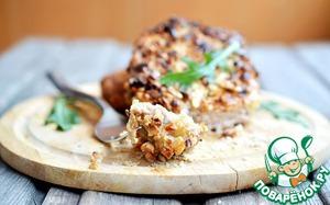 Рецепт Свиная отбивная с фундуком и грибным соусом