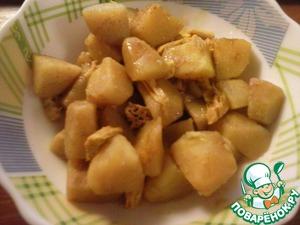 Рецепт Тушеный картофель со спаржей-хе и карри