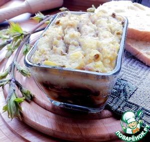 Рецепт Запеканки с грибами, картофелем и машем