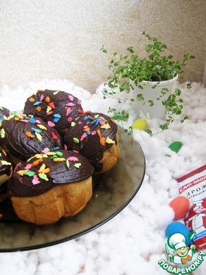 Рецепт Пасхальные пончики с начинкой