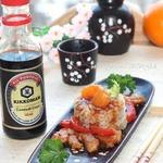 Азиатская свинина с перцем и мандаринами
