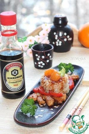 Рецепт Азиатская свинина с перцем и мандаринами