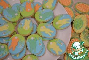 Рецепт Пасхальное песочное печенье «Зайчики»