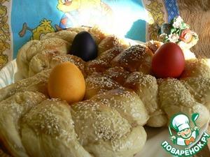 Рецепт Пасхальный хлеб по-гречески