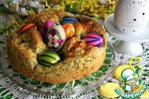 Рецепт Зеленый пасхальный хлеб с мягкой брынзой