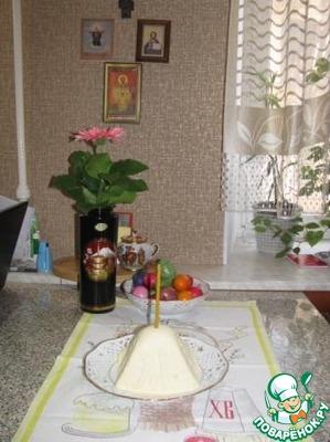 Рецепт Творожная Пасха по монастырскому рецепту