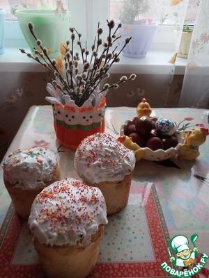 Как приготовить рецепт с фото Кулич пасхальный