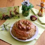 Рустикальный пасхальный хлеб на полбовой муке