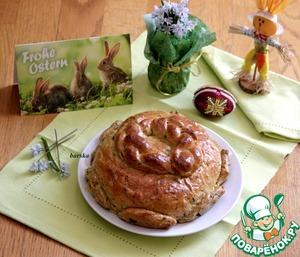 Рецепт Рустикальный пасхальный хлеб на полбовой муке